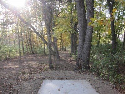 Independence Lake County Park, Chuck D. Memorial Course, Hole 13 Long tee pad