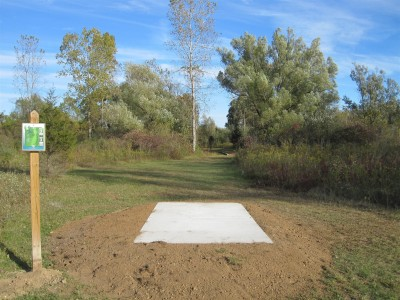 Independence Lake County Park, Chuck D. Memorial Course, Hole 4 Long tee pad