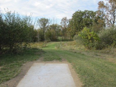 Independence Lake County Park, Chuck D. Memorial Course, Hole 10 Long tee pad