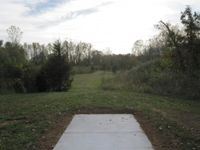 Independence Lake County Park, Chuck D. Memorial Course, Hole 12 Long tee pad