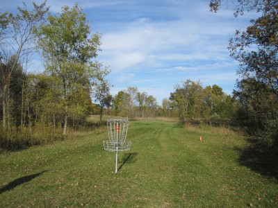 Independence Lake County Park, Chuck D. Memorial Course, Hole 5 Reverse (back up the fairway)