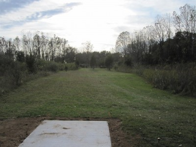 Independence Lake County Park, Chuck D. Memorial Course, Hole 12 Middle tee pad
