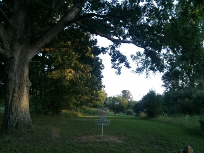 Independence Lake County Park, Chuck D. Memorial Course, Hole 11 Reverse (back up the fairway)
