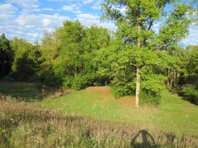 Independence Lake County Park, Chuck D. Memorial Course, Hole 15 Long approach