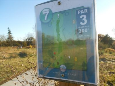 Independence Lake County Park, Chuck D. Memorial Course, Hole 7 Hole sign
