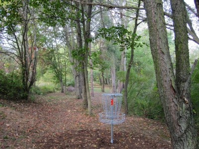 Independence Lake County Park, Chuck D. Memorial Course, Hole 2 Reverse (back up the fairway)
