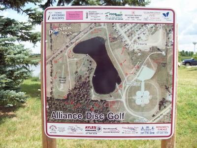 Lake Alliance, Main course, Hole 1 Hole sign