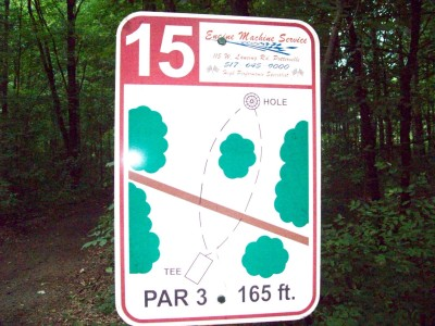 Lake Alliance, Main course, Hole 15 Hole sign