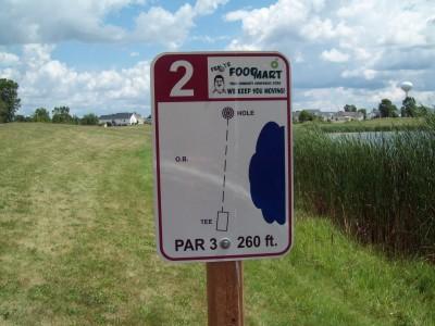 Lake Alliance, Main course, Hole 2 Hole sign