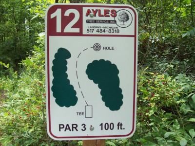 Lake Alliance, Main course, Hole 12 Hole sign