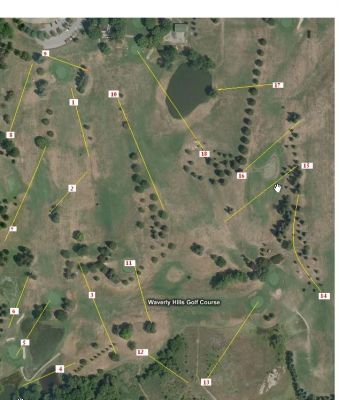 Waverly Hills Golf Course, Main course, Hole 1 Tee pad