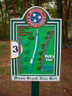 Steele Creek Park, Main course, Hole 3 Hole sign