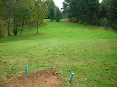Steele Creek Park, Main course, Hole 4 Long tee pad