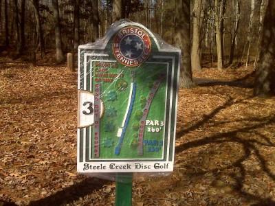Steele Creek Park, Main course, Hole 3 Hole sign