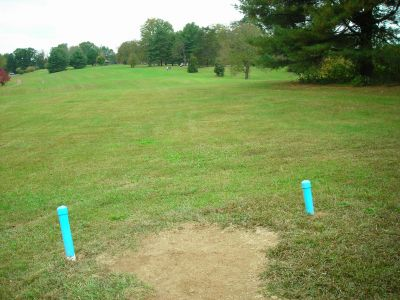 Steele Creek Park, Main course, Hole 7 Long tee pad