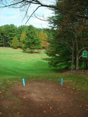 Steele Creek Park, Main course, Hole 2 Long tee pad