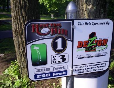 Horns Hill Park, Main course, Hole 1 Tee pad