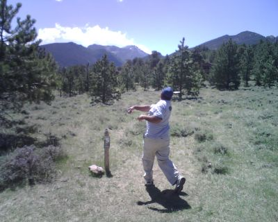 YMCA of the Rockies, Main course, Hole 5 Tee pad