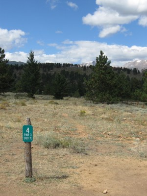 YMCA of the Rockies, Main course, Hole 4 Hole sign