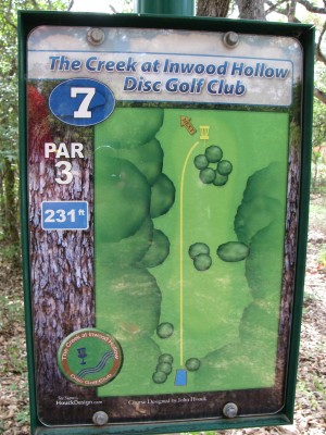 Inwood Hollow, The Creek, Hole 7 Hole sign