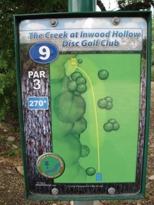 Inwood Hollow, The Creek, Hole 9 Hole sign