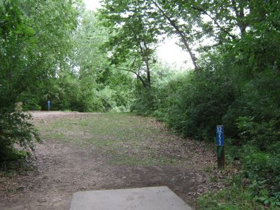 Kensington Metropark, Black Locust, Hole 12 Long tee pad