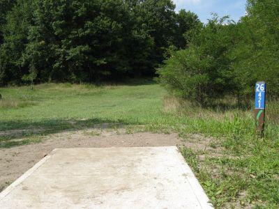 Kensington Metropark, Black Locust, Hole 26 Short tee pad