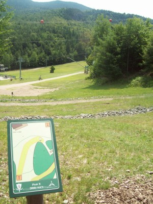 Whiteface Mountain, Main course, Hole 9 Tee pad