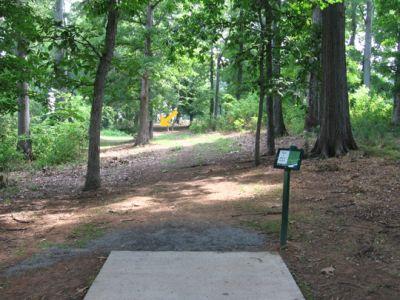North Cabarrus Park, Main course, Hole 1 Tee pad