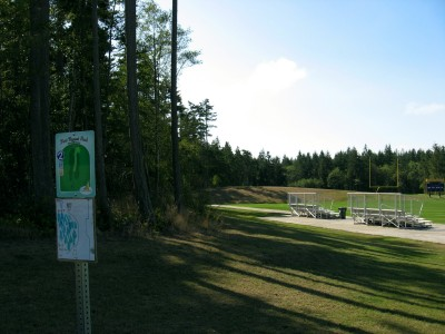 Fort Nugent Park, Main course, Hole 2 Tee pad