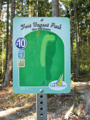 Fort Nugent Park, Main course, Hole 10 Hole sign