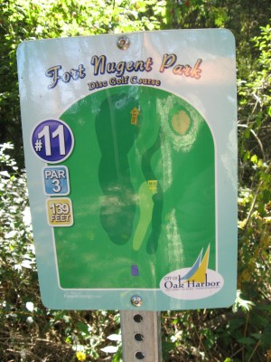 Fort Nugent Park, Main course, Hole 11 Hole sign
