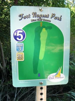 Fort Nugent Park, Main course, Hole 5 Hole sign