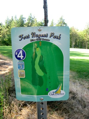 Fort Nugent Park, Main course, Hole 4 Hole sign
