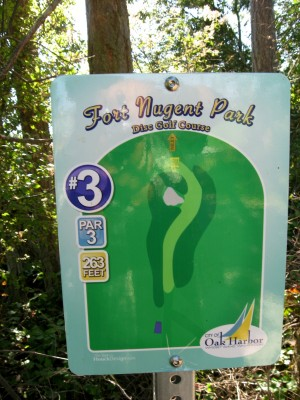 Fort Nugent Park, Main course, Hole 3 Hole sign