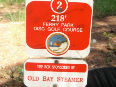 Ferry Park, Main course, Hole 2 Hole sign