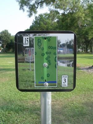 Youth Park, Main course, Hole 15 Hole sign