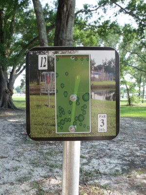 Youth Park, Main course, Hole 12 Hole sign