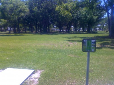 Youth Park, Main course, Hole 8 Tee pad