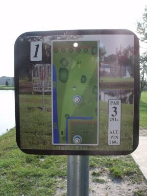 Youth Park, Main course, Hole 1 Hole sign