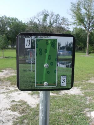 Youth Park, Main course, Hole 13 Hole sign