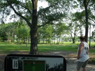 Youth Park, Main course, Hole 16 Tee pad