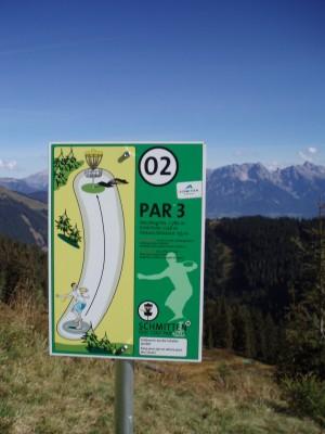 Schmitten Discgolf Parcours, Main course, Hole 2 Hole sign