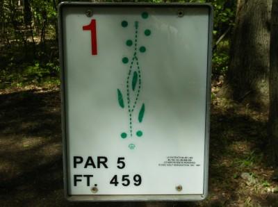 Sanford Lake Park, The Jungle, Hole 1 Hole sign