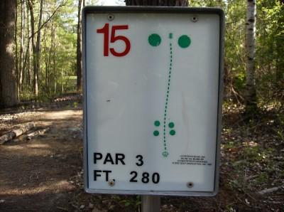 Sanford Lake Park, The Jungle, Hole 15 Hole sign