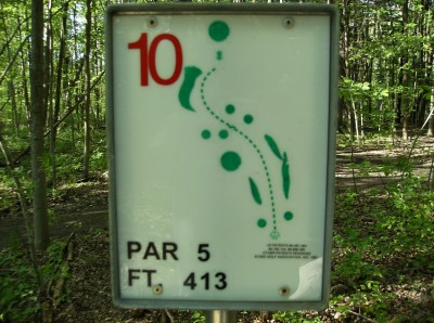 Sanford Lake Park, The Jungle, Hole 10 Hole sign