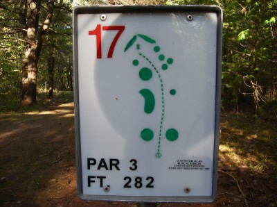 Sanford Lake Park, The Jungle, Hole 17 Hole sign
