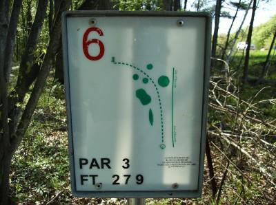 Sanford Lake Park, The Jungle, Hole 6 Hole sign