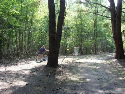 Sanford Lake Park, The Jungle, Hole 13 Tee pad