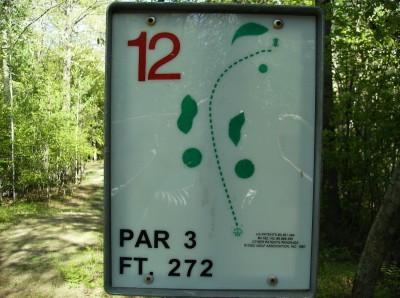 Sanford Lake Park, The Jungle, Hole 12 Hole sign